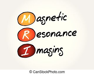 MRI - Magnetic Resonance Imaging, acronym health concept background
