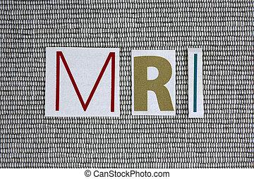 MRI (Magnetic Resonance Imaging) concept