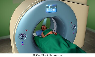 MRI Scan - Magnetic resonance imaging (MRI), nuclear...