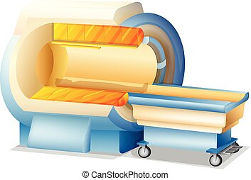 MRI Scanner on White Background