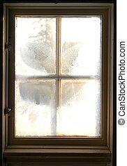 mroźny, okno