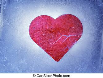 mrożony, serce
