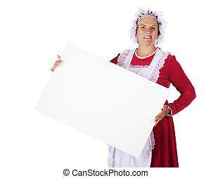 mrs., kerstman, meldingsbord