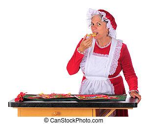Mrs. Santa Taste Testing