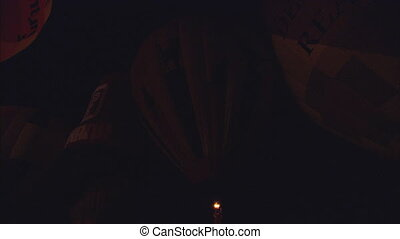 MS Balloon Glow Dance - MS of hot air balloons bursting...