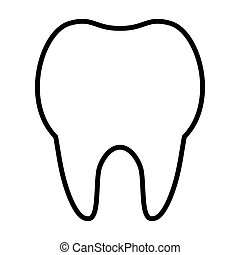 msidiqf, dent, -, contour, icône