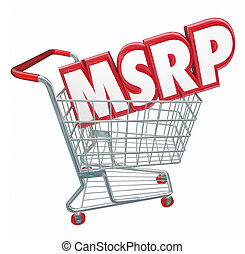 MSRP 3d Words Abbreviation Shopping Cart Manufacturers...