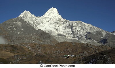 Mt. Ama Dablam in the Everest Region of the Himalayas....