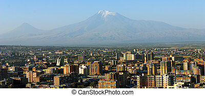 Mt. Ararat at Yerevan, Armenia