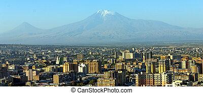 Mt. Ararat at Yerevan, Armenia.