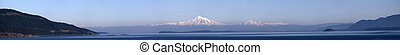 Mt Baker and Gulf Islands panorama - Mt Baker panorama from...