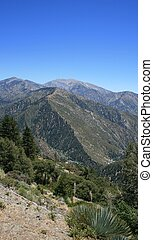 View of Mt. Baldy in the San Gabriel Mountains, California