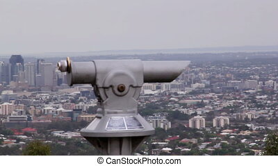 Mt Coot-tha Lookout 1 - Telescopes at Mt Cootha overlooking...