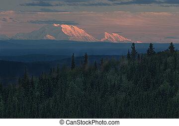 Mt. Denali at sunset