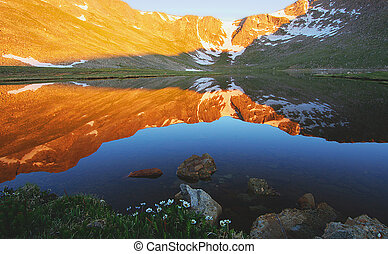 Mt. Evans reflected in Summit Lake