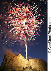 mt, fireworks, rushmore