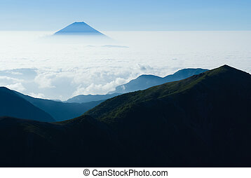 ?Mt. Fuji and a sea of clouds