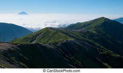 Mt. Fuji and a sea of clouds
