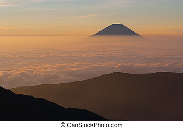 Mt. Fuji and a sea of clouds