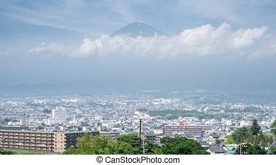 Mt Fuji and Fujinomiya city Time-Lapse in 4K