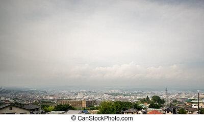Mt Fuji and Fujinomiya city Time-Lapse, wide angle - Wide...