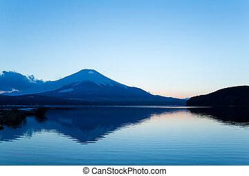 Mt Fuji and Lake Yamanaka