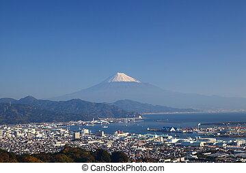 Mt. Fuji and Shimizu Port, Shizuoka, Japan