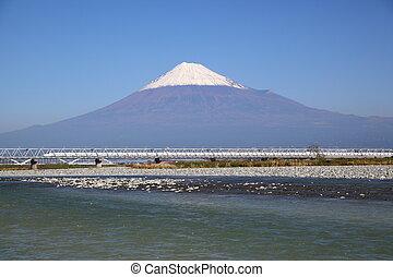 Mt. Fuji and Shinkansen - View of Mt. Fuji and Tokaido ...