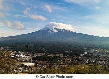 Mt. Fuji Being Shy
