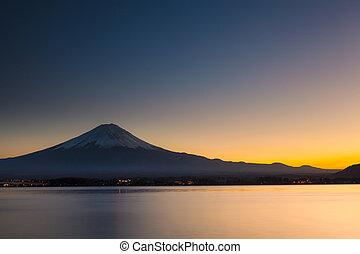 Mt. Fuji during sunset