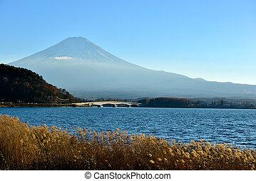 Mt Fuji from Lake Kawaguchiko, Tokyo, Japan