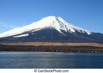 Mt. Fuji from Yamanaka lake in Japan