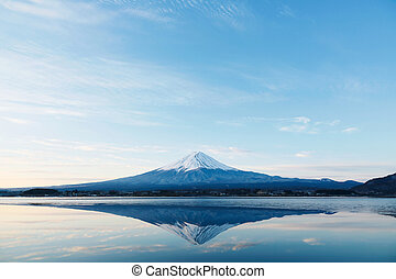 Mt Fuji in winter