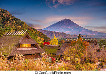 Mt. Fuji, Japan Autumn - Mt. Fuji, Japan autumn landscape ...
