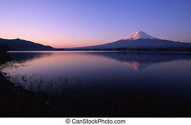 Mt Fuji reflected in Lake Kawaguchiko