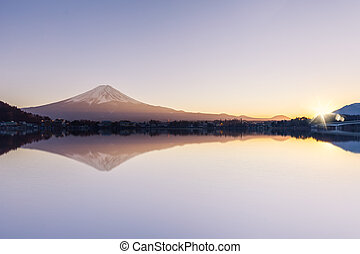 Mt Fuji view and the sunset