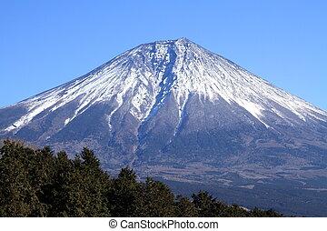 Mt. Fuji, view from Asagiri highlands, Shizuoka, Japan...