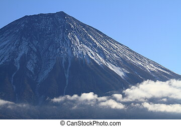 Mt. Fuji, view from Tanuki lake, Shizuoka, Japan (winter)