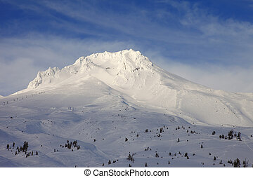 Mt. Hood in winter.