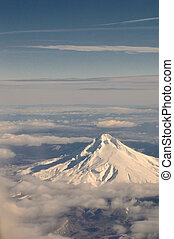 Mt Hood, Oregon From Above