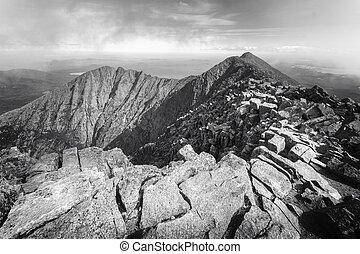 Mt Kathadin - Ragged mountain top of Mt. Katahdin