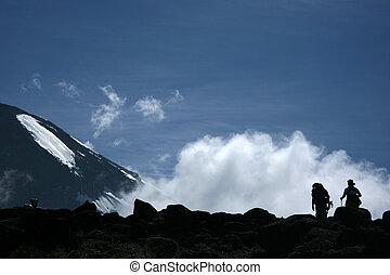 Mt Kilimanjaro, Tanzania, Africa - Mt Kilimanjaro climbing...
