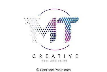 Mt M T Pink Blue Rhombus Abstract Hand Written Company Letter Logo