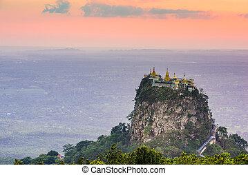 Mt. Popa of Myanmar
