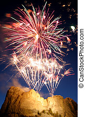 Mt Rushmore firewor - Fireworks over Mt Rushmore