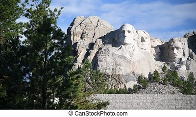 Mt. Rushmore National Memorial is located in southwestern South Dakota, USA. Panoramic view