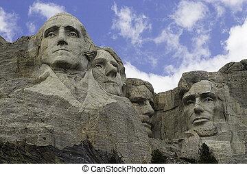 Mt. Rushmore - The famous monument, Mt. Rushmore.