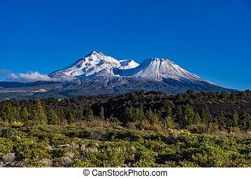 Mt. Shasta - Mount Shasta in northern California with a ...