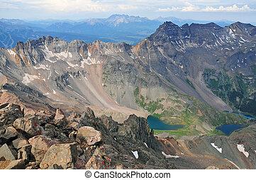 Mt Sneffels, Colorado Rockies - Mt Sneffels, San Juan Range...