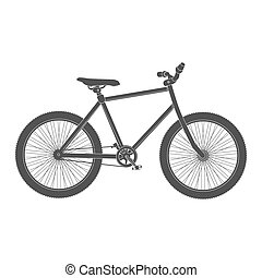 MTB black Bicycle isolated.